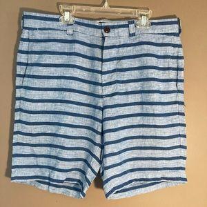 J. Crew Stanton Baird mcNutt linen striped shorts